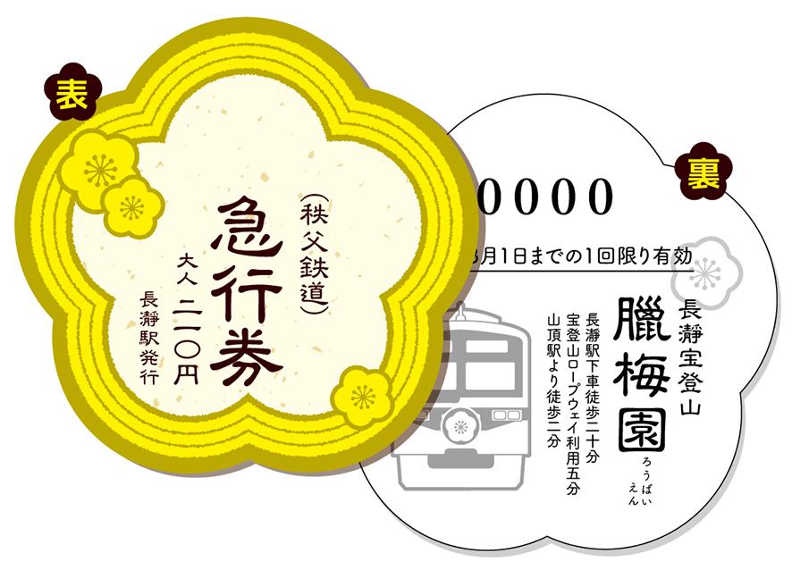 長瀞宝登山鑞梅園の列車券.jpg